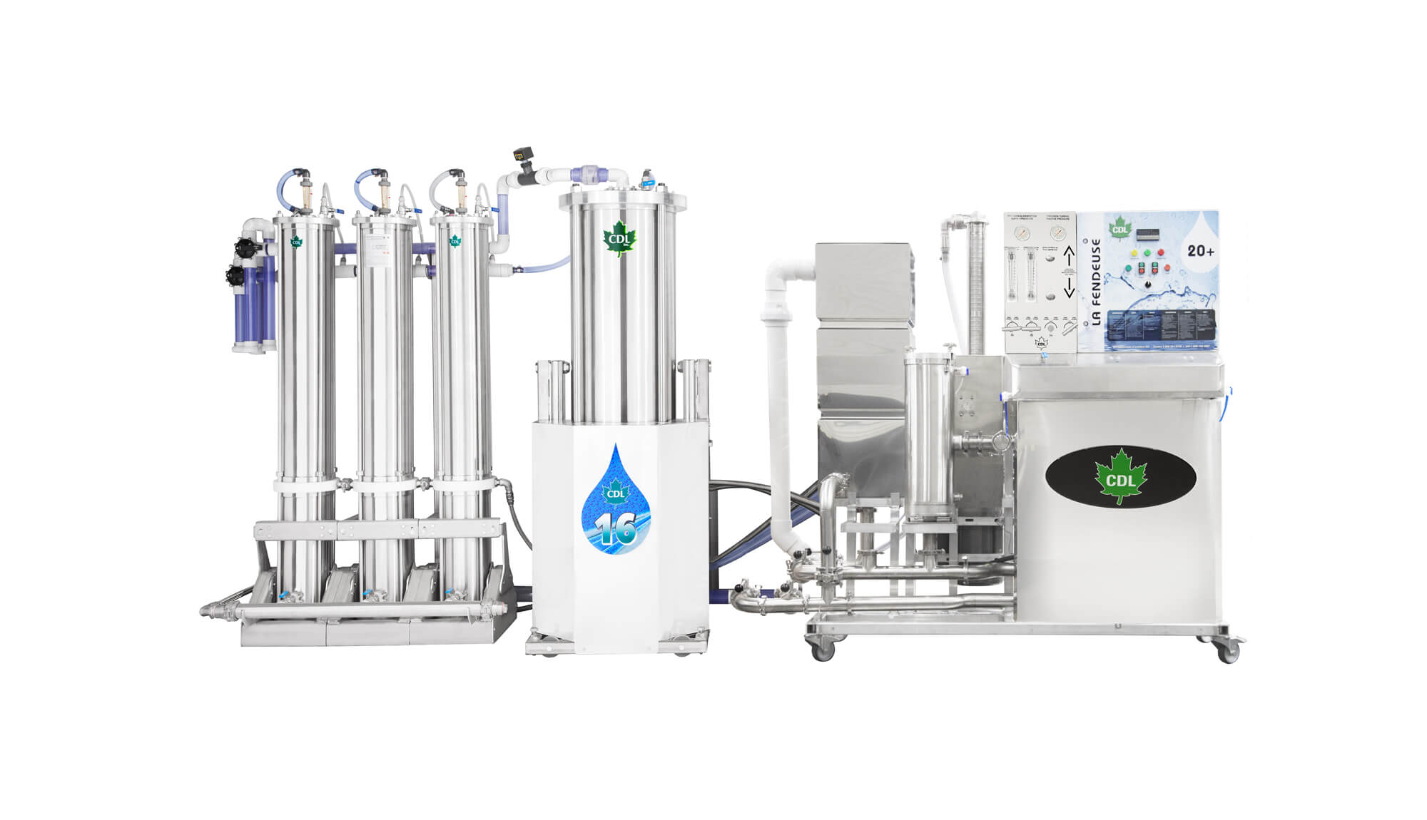 concentrateurs 20 + CDL 20 + reverse osmosis