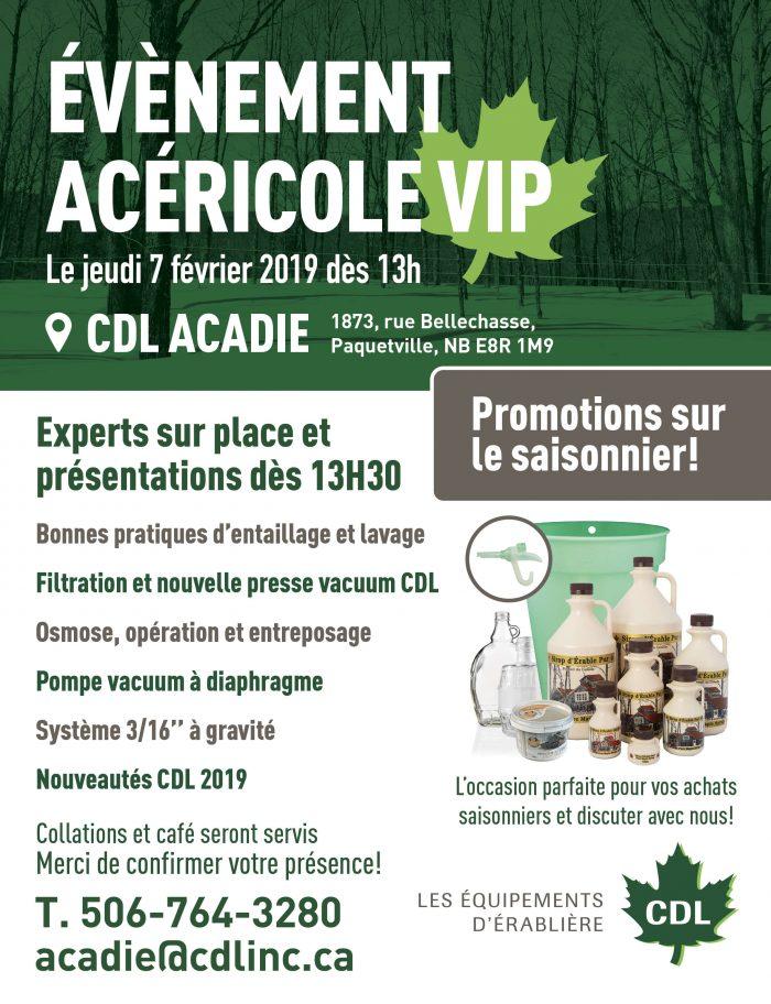 Évènement VIP CDL Acadie